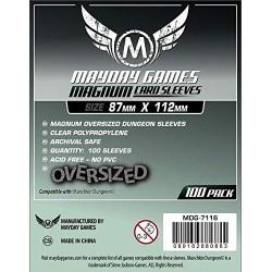 Mayday Premium Magnum Oversized Dungeon Sleeves: (87x112mm)