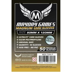 Mayday Magnum Ultra-Fit Card Sleeves(80x120mm) Black backed