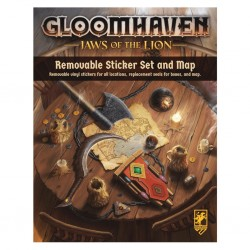 Gloomhaven: Jaws of the Lion Removable Sticker Sheet and Map
