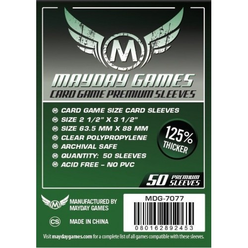 Mayday Card Game Premium Sleeves (63.5x88 mm)