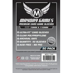Mayday Magnum Silver Ultra-Fit Card Sleeves (70x110mm) - Lost Cities