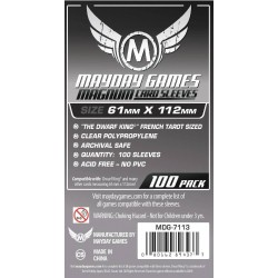 Mayday Magnum Platinum Tarot Card Sleeve: (61 X 112mm)