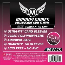 Mayday Premium Small Square Card Sleeves 70 X 70 MM