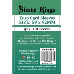 Sleeve Kings Euro Card Sleeves (59x92mm)