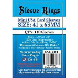 Sleeve Kings Mini USA Card Sleeves (41x63mm)